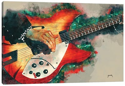 Tom Petty's Electric Guitar Canvas Art Print