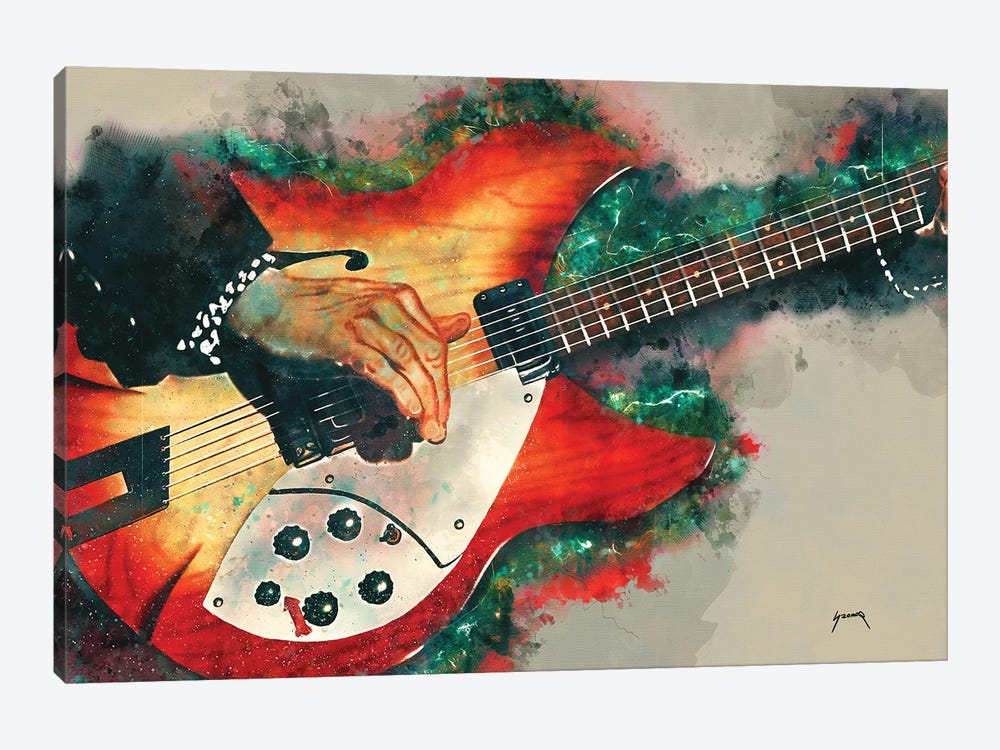 Tom Petty's Electric Guitar by Pop Cult Posters 1-piece Art Print