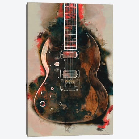 Tony Iommi's Electric Guitar Canvas Print #PCP56} by Pop Cult Posters Canvas Print