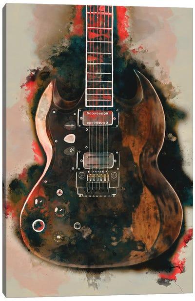 Tony Iommi's Electric Guitar Canvas Art Print