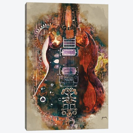 Tony Iommi's Steampunk Guitar Canvas Print #PCP58} by Pop Cult Posters Canvas Art