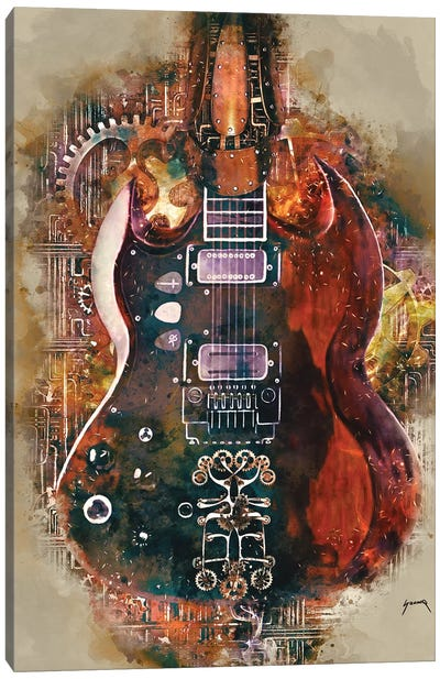 Tony Iommi's Steampunk Guitar Canvas Art Print