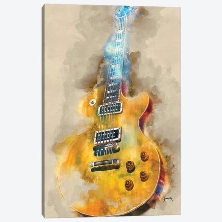 Vintage Electric Guitar Canvas Print #PCP59} by Pop Cult Posters Canvas Artwork