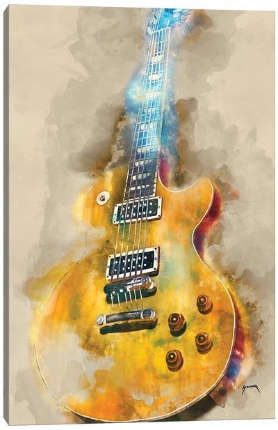 Vintage Electric Guitar Canvas Art Print