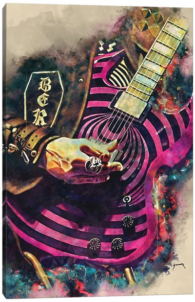 Zakk Wylde's Electric Guitar Canvas Art Print