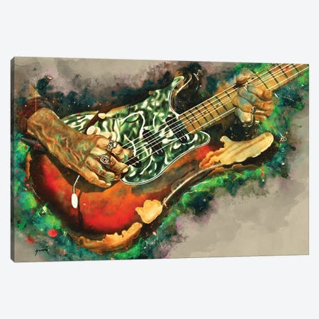 Joe Perry's Electric Guitar Canvas Print #PCP61} by Pop Cult Posters Canvas Print