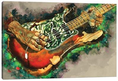 Joe Perry's Electric Guitar Canvas Art Print
