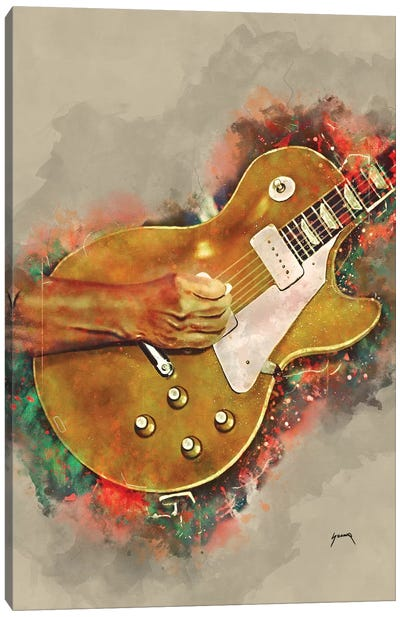 John Fogerty's Guitar 2 Canvas Art Print