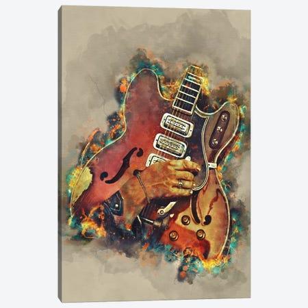 Dan Auerbach's Guitar 2 Canvas Print #PCP64} by Pop Cult Posters Canvas Art