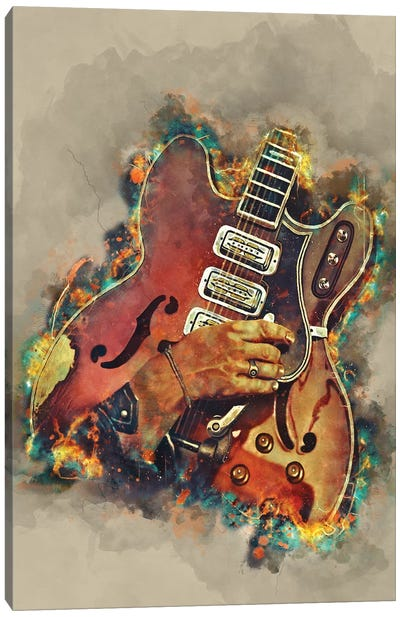 Dan Auerbach's Guitar 2 Canvas Art Print
