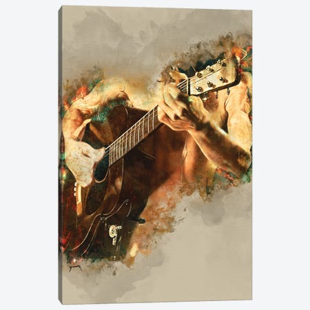 John Frusciante's Acoustic Guitar Canvas Print #PCP66} by Pop Cult Posters Canvas Wall Art