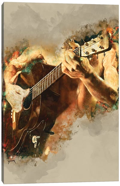 John Frusciante's Acoustic Guitar Canvas Art Print