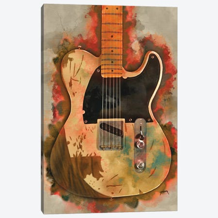 Jeff Beck's Electric Guitar Canvas Print #PCP68} by Pop Cult Posters Canvas Art Print