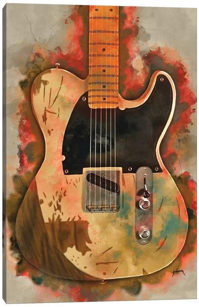 Jeff Beck's Electric Guitar Canvas Art Print
