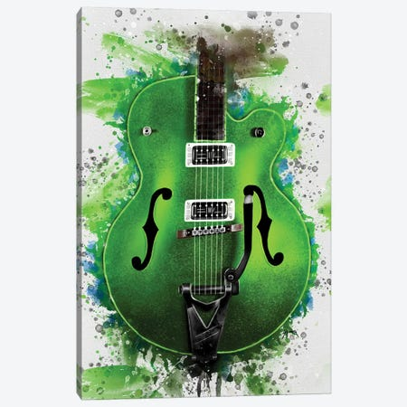Brian Setzer's Electric Guitar Canvas Print #PCP70} by Pop Cult Posters Canvas Wall Art