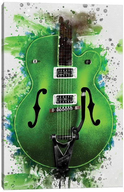 Brian Setzer's Electric Guitar Canvas Art Print