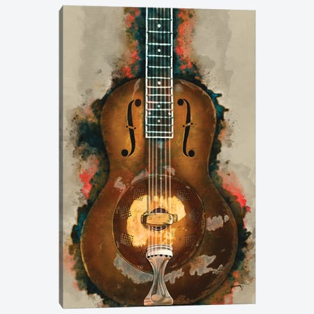 Rory Gallagher's Resonator Guitar II Canvas Print #PCP71} by Pop Cult Posters Canvas Artwork
