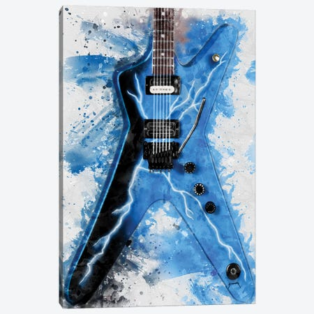 Dimebag Darrell's Electric Guitar II Canvas Print #PCP72} by Pop Cult Posters Canvas Wall Art