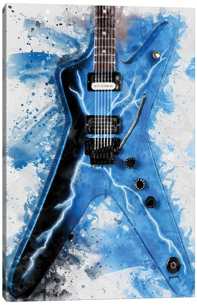 Dimebag Darrell's Electric Guitar II Canvas Art Print