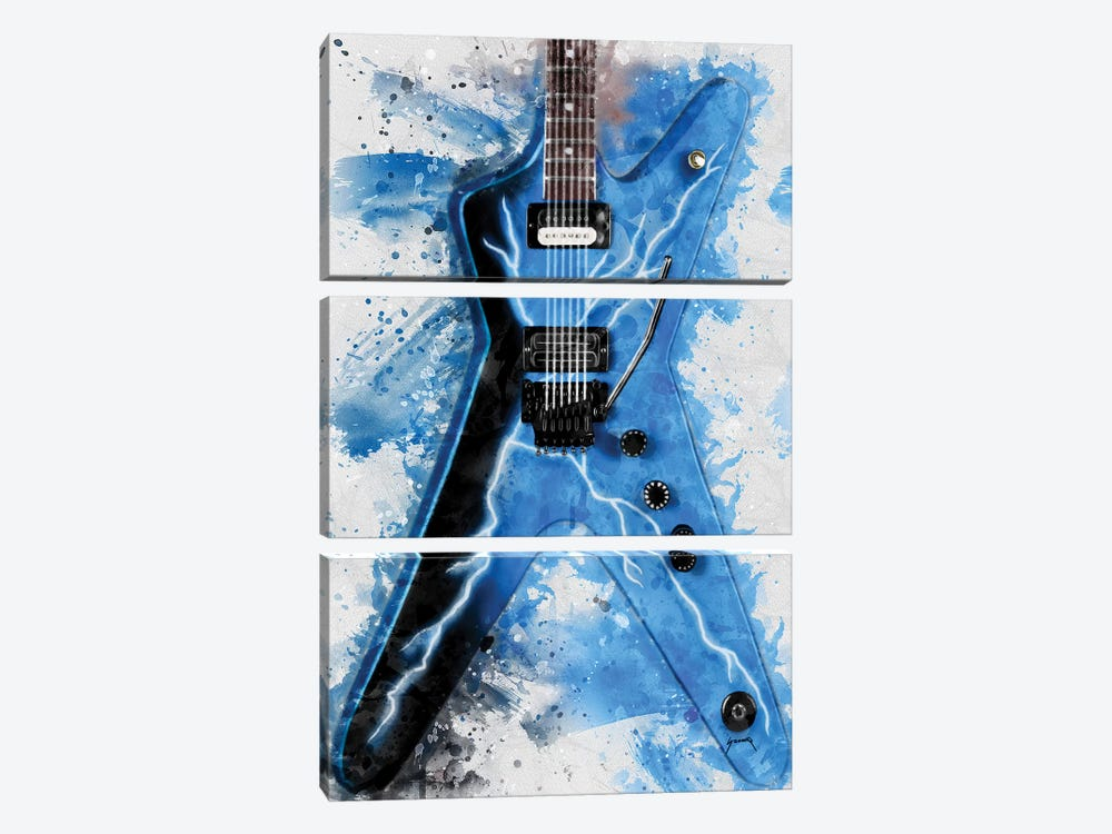 Dimebag Darrell's Electric Guitar II by Pop Cult Posters 3-piece Canvas Artwork
