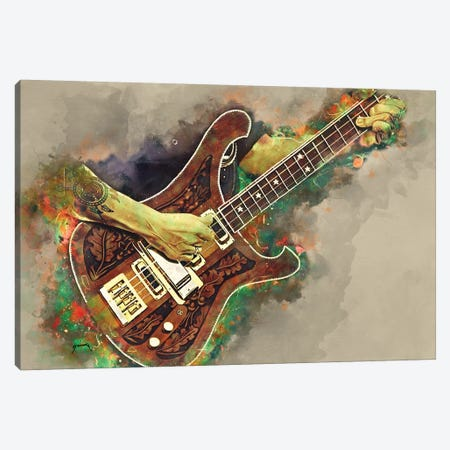 Lemmy's Bass Guitar Canvas Print #PCP73} by Pop Cult Posters Canvas Wall Art