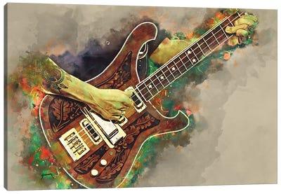 Lemmy's Bass Guitar Canvas Art Print