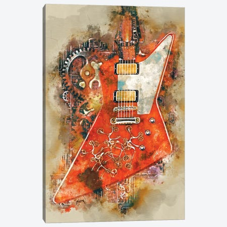 The Edge's Steampunk Guitar Canvas Print #PCP74} by Pop Cult Posters Art Print