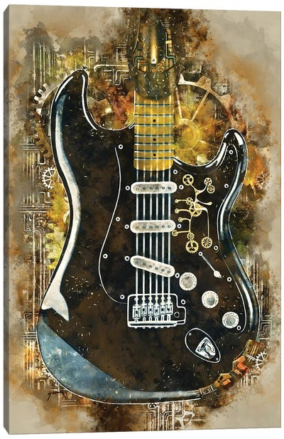 David Gilmour's Steampunk Guitar Canvas Art Print