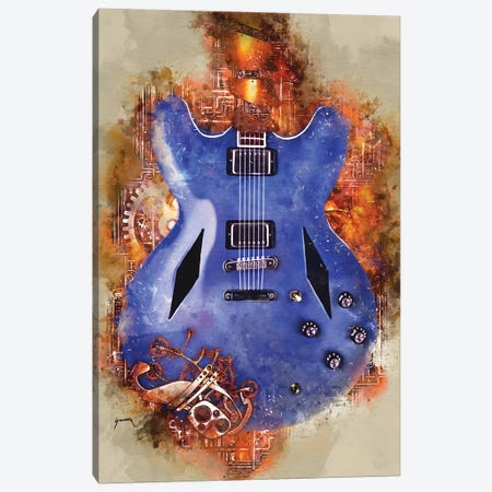 Dave Grohl's Steampunk Guitar Canvas Print #PCP78} by Pop Cult Posters Canvas Artwork
