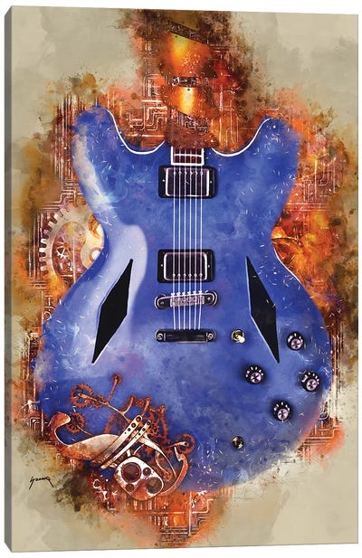 Dave Grohl's Steampunk Guitar Canvas Art Print