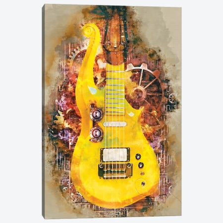 Prince's Steampunk Guitar Canvas Print #PCP79} by Pop Cult Posters Canvas Art