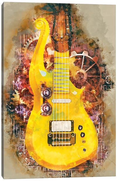 Prince's Steampunk Guitar Canvas Art Print