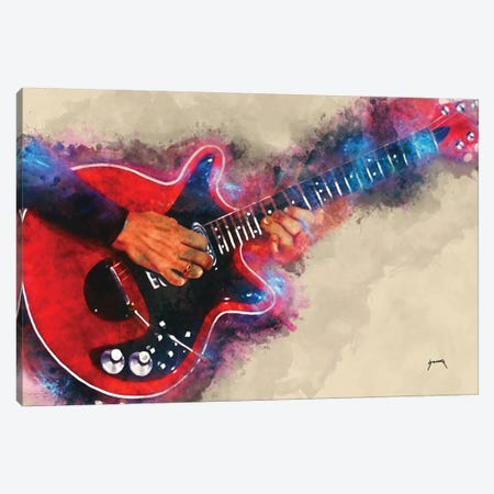 Brian May's Electric Guitar Canvas Print #PCP7} by Pop Cult Posters Canvas Art Print