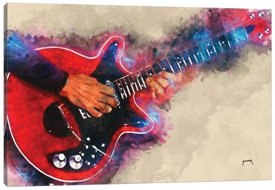 Brian May's Electric Guitar Canvas Art Print