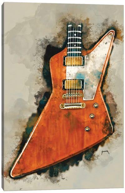 The Edge's Electric Guitar Canvas Art Print