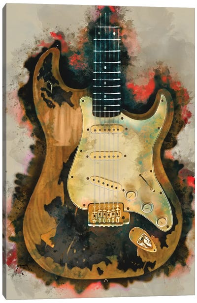 John Mayer's Electric Guitar Canvas Art Print