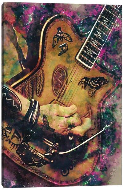 Johnny Depp's Electric Guitar Canvas Art Print