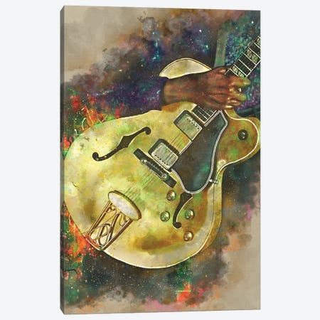 Chuck Berry Electric Guitar Canvas Print #PCP88} by Pop Cult Posters Canvas Art Print