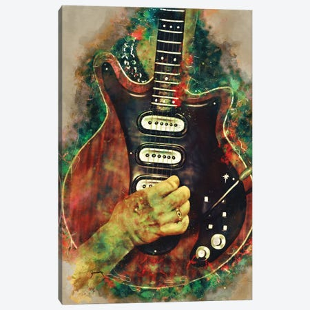 Brian May's Guitar Canvas Print #PCP89} by Pop Cult Posters Canvas Art Print