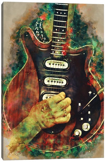 Brian May's Guitar Canvas Art Print