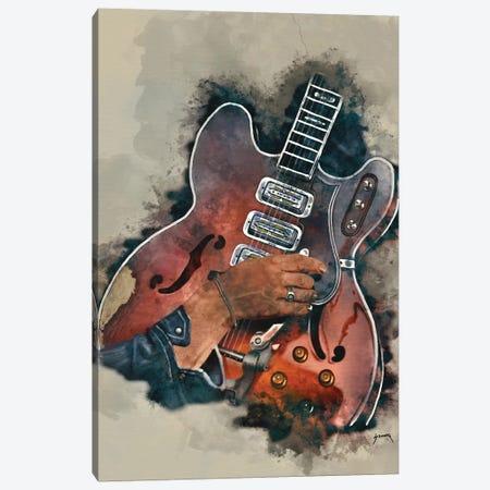 Dan Auerbach's Guitar Canvas Print #PCP8} by Pop Cult Posters Canvas Wall Art