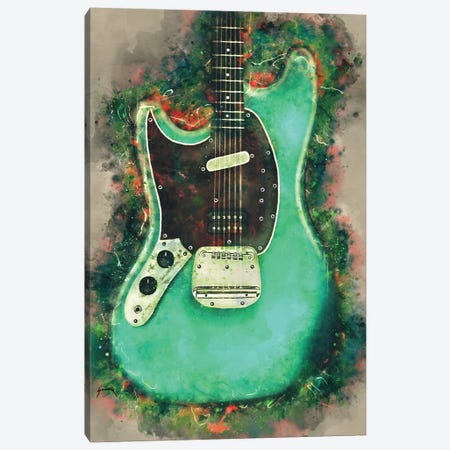Kurt Cobain's Electric Guitar Canvas Print #PCP90} by Pop Cult Posters Canvas Art