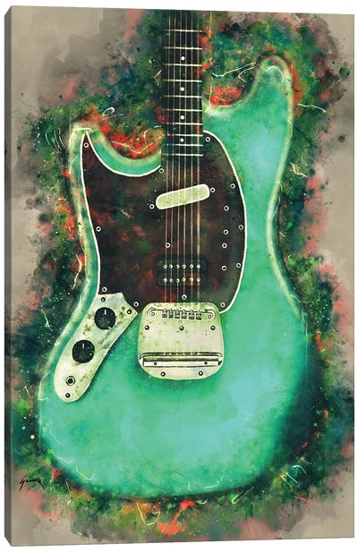 Kurt Cobain's Electric Guitar Canvas Art Print