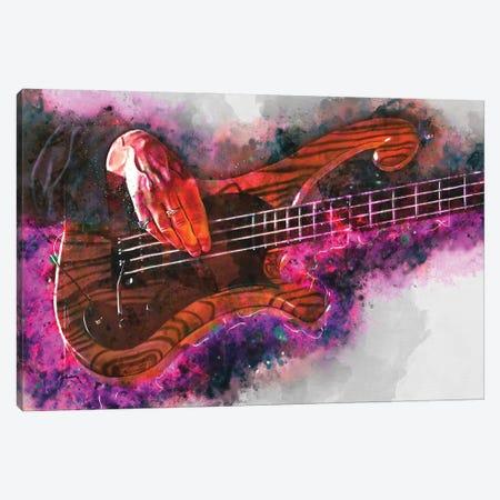 Les Claypool'S Bass Guitar Canvas Print #PCP91} by Pop Cult Posters Canvas Art