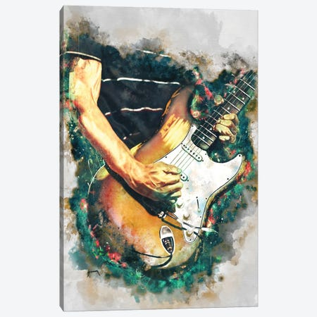 Frusciante's Electric Guitar Canvas Print #PCP92} by Pop Cult Posters Canvas Wall Art