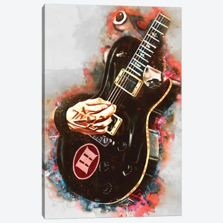 Mark Tremonti's Electric Guitar Canvas Print #PCP93} by Pop Cult Posters Canvas Artwork