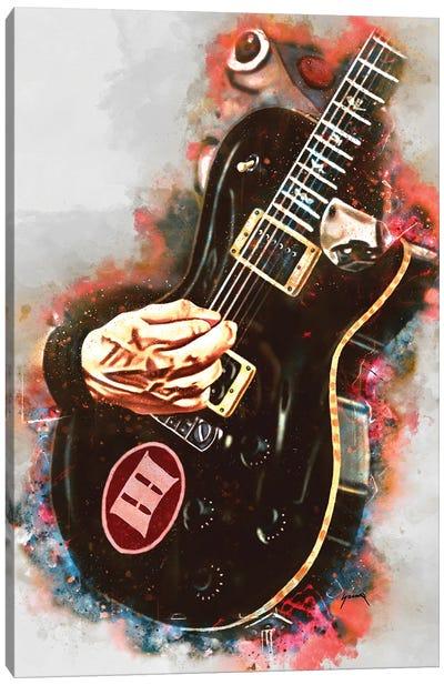 Mark Tremonti's Electric Guitar Canvas Art Print