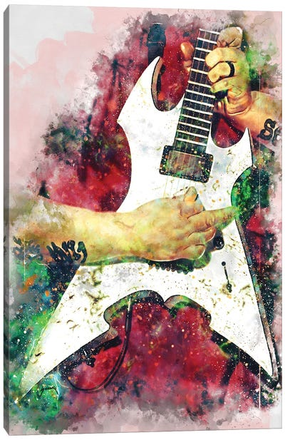 Mick Thomson Electric Guitar Canvas Art Print