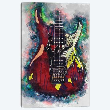 Joe Satriani's Electric Guitar Canvas Print #PCP95} by Pop Cult Posters Canvas Print