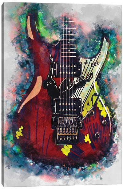 Joe Satriani's Electric Guitar Canvas Art Print